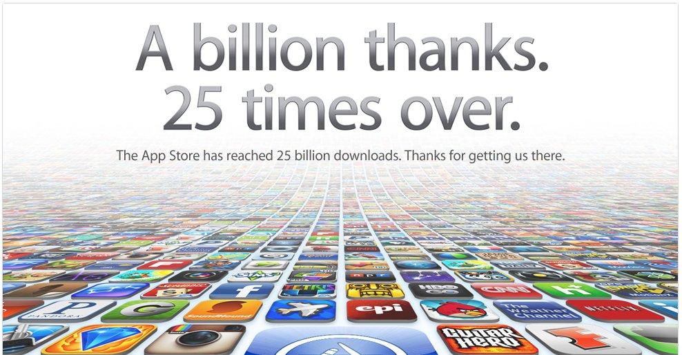25 billion apps