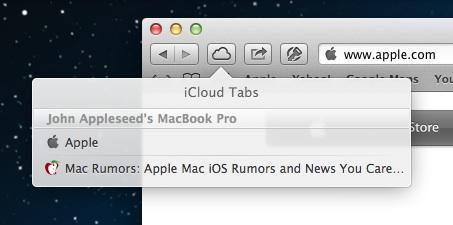 iCloud Tabs.