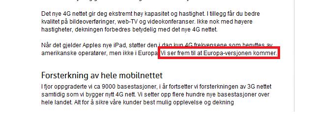 Telenor gleder seg til den Europeiske versjonen av nye iPad. Bør du vente med å handle på fredag?
