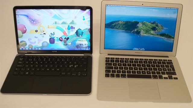 Merkbart mindre enn en MacBook Air.
