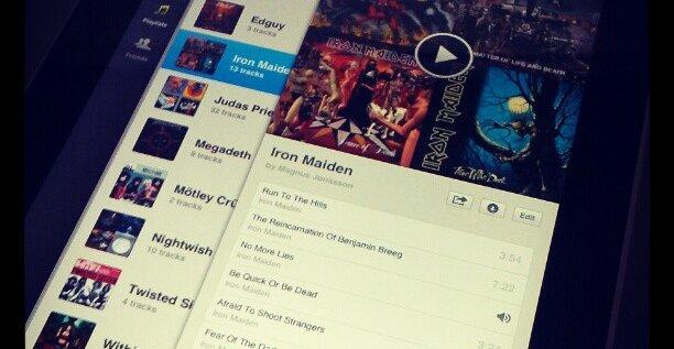 Dette er trolig en beta-versjon av Spotifys iPad-app.
