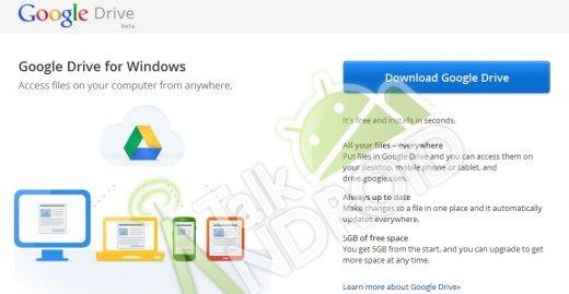 Google Drive blir integrert i Windows som mapper, akkurat som Dropbox. Her er et skjermbilde fra en lekket nedlastingsnettside.