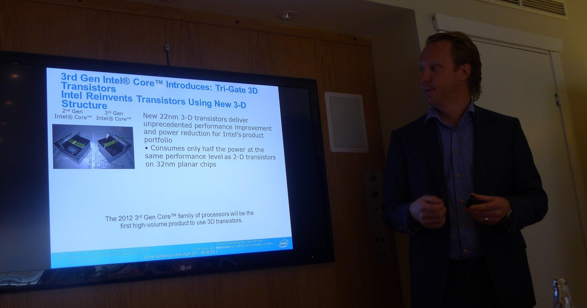 Intel viste onsdag forrige uke frem sin tredje generasjons CPUer. Det handler om ytelse, strømforbruke, sikkerhet og tilkoblingsmuligheter. Selskapet ønsker også å satse enda mer på Ultrabooks og har avtaler med de aller fleste PC-produsentene.