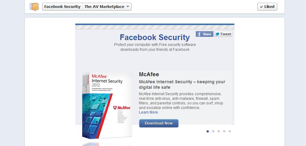 Gratis sikkerhet i partnerskap med Facebook.