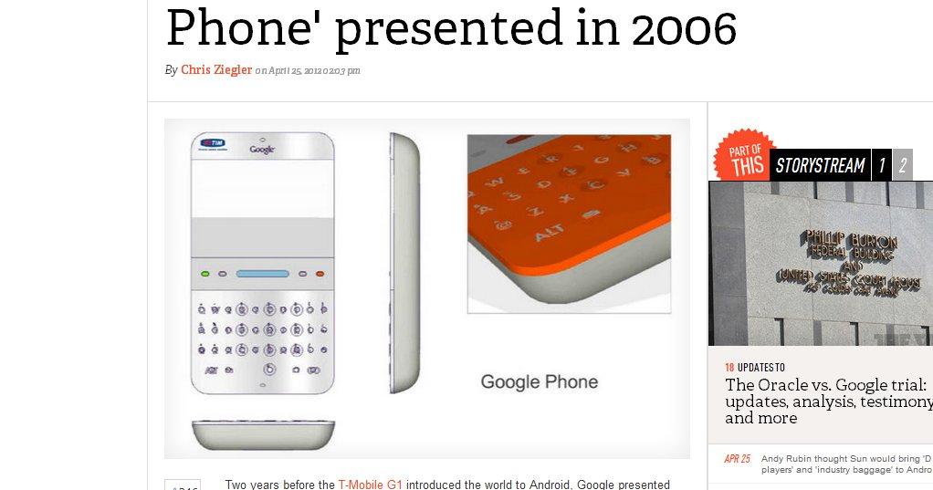 Google-mobil konsept fra 2006.