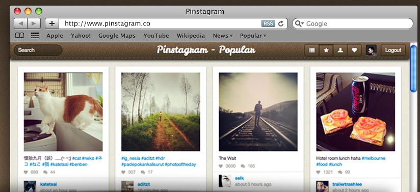 Pinstagram er en smart sammenstilling av to av de mest populære sosiale nett-fenomenene akkurat nå.
