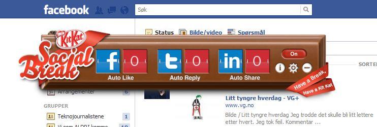 Om Facebook begynner å gå deg på nervene, er det ikke bare bare å logge seg ut. Hva med en virtuell sjokolade-widget?