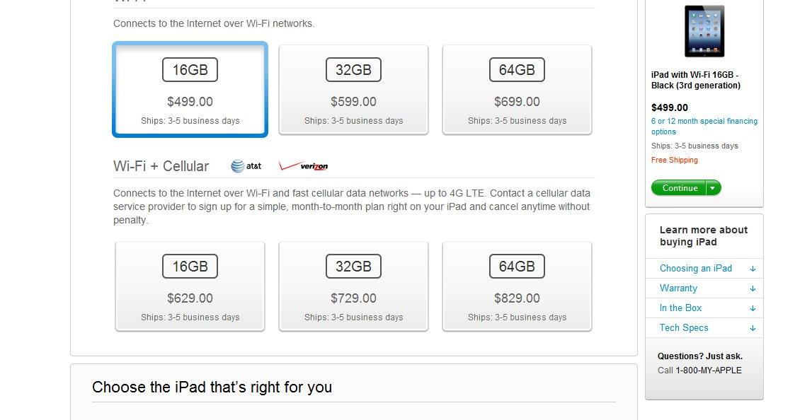 «4G» har blitt til «Cellular» i flere land med 4G-nett. I Norge som har 4G-nett som ikke støttes av den nye iPaden, bruker merkelig nok Apple fortsatt den mye debaterte 4G-betegnelsen