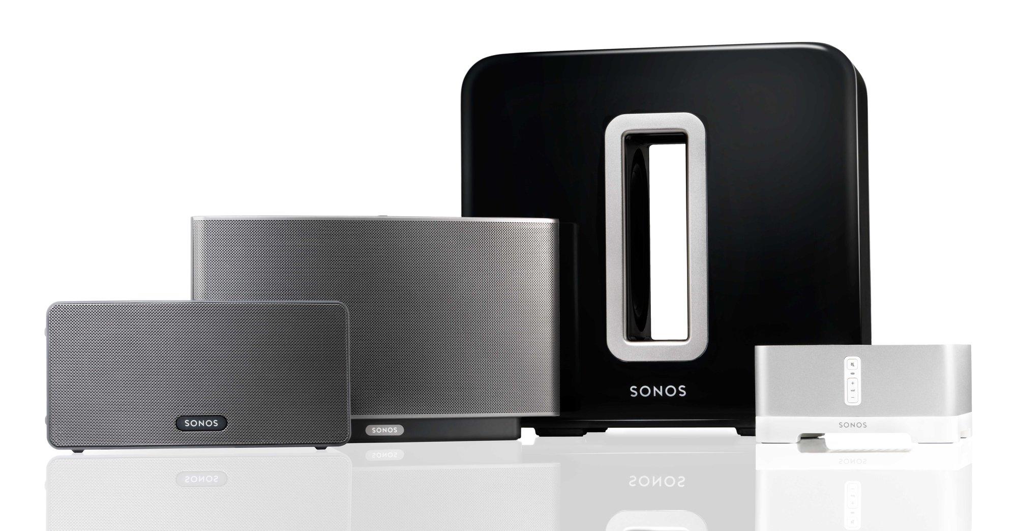 Sonos SUB, og resten av familien.
