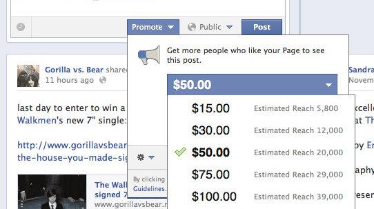 Dette kan komme til å møte deg når du oppdaterer Facebook-statusen din...