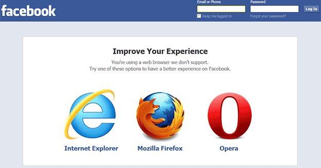 Facebook anbefaler ikke lenger Google Chrome, men Opera.