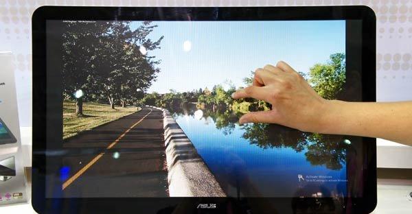 Du kan bruke fingrene på den nye Thunderbolt-klare skjermen til Asus.