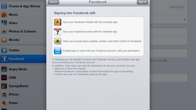 Facebook må ha tilganger.