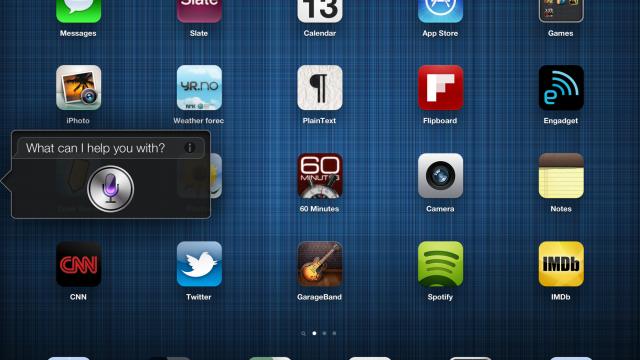 Siri på iPad.