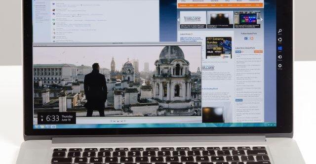 1080p er pinglete på en skjerm med 2800 x 1800-skjerm.