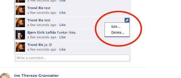 Nå kan du redigere innlegg når du vil, men selve status-oppdateringen får du ikke lov å tukle med.