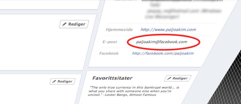 Uansett hvilken adresse du selv oppga, endret Facebook den til en @facebook-adresse. Det skapte krøll for mange, og nå innrømmer de feilen.