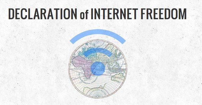 De som står bak Nettets Uavhengigserklæring håper å få med seg et stort antall nettbrukere.