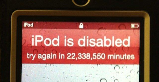 Apple vil virikelig ikke at en dataløs tyv skal få glede av musikken på denne iPoden.