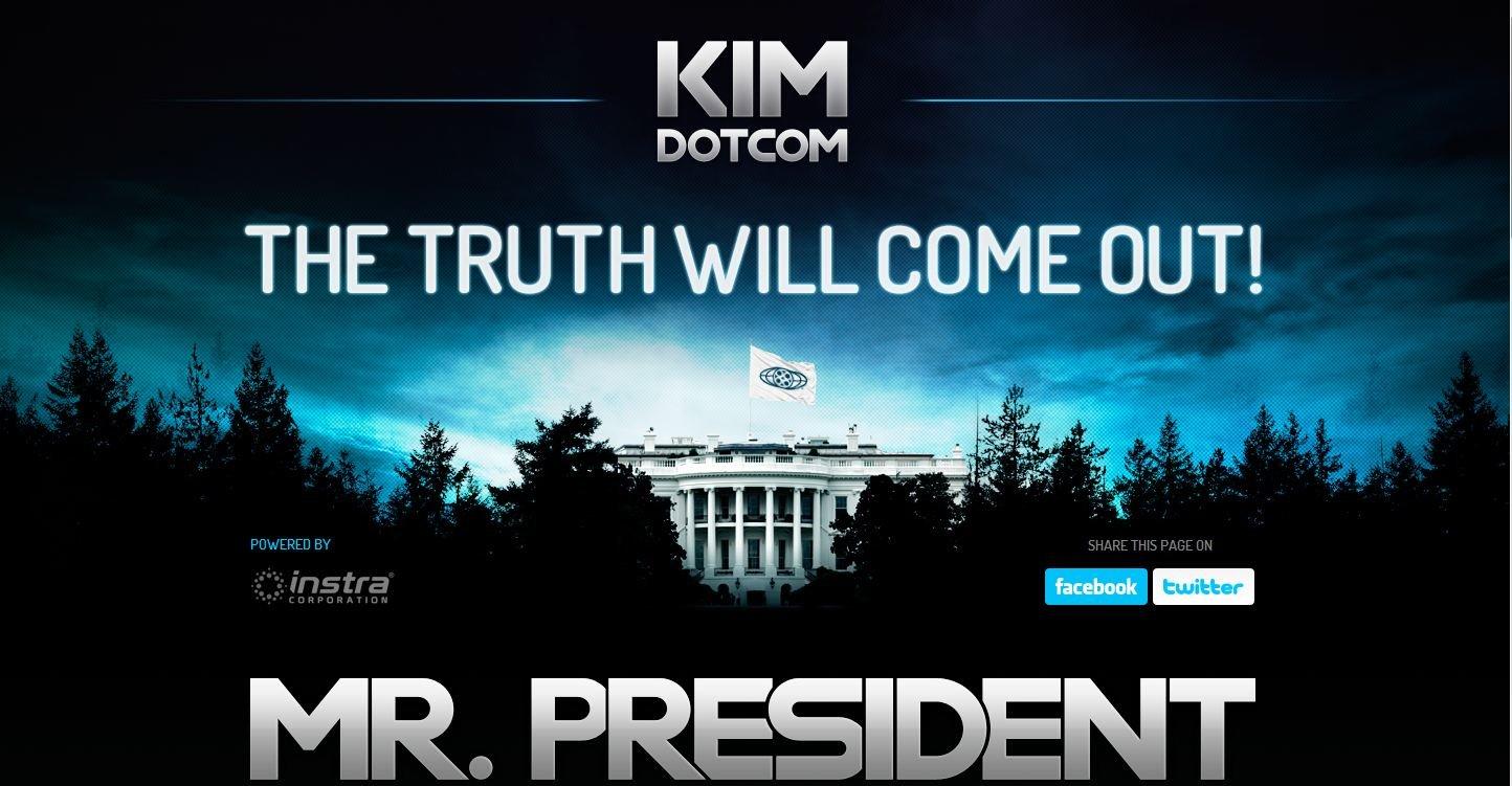 Slik presenterer pirat-tiltalte Kim Dotcom sitt opprop mot Hollywoods makt over amerikanske poltitikere.