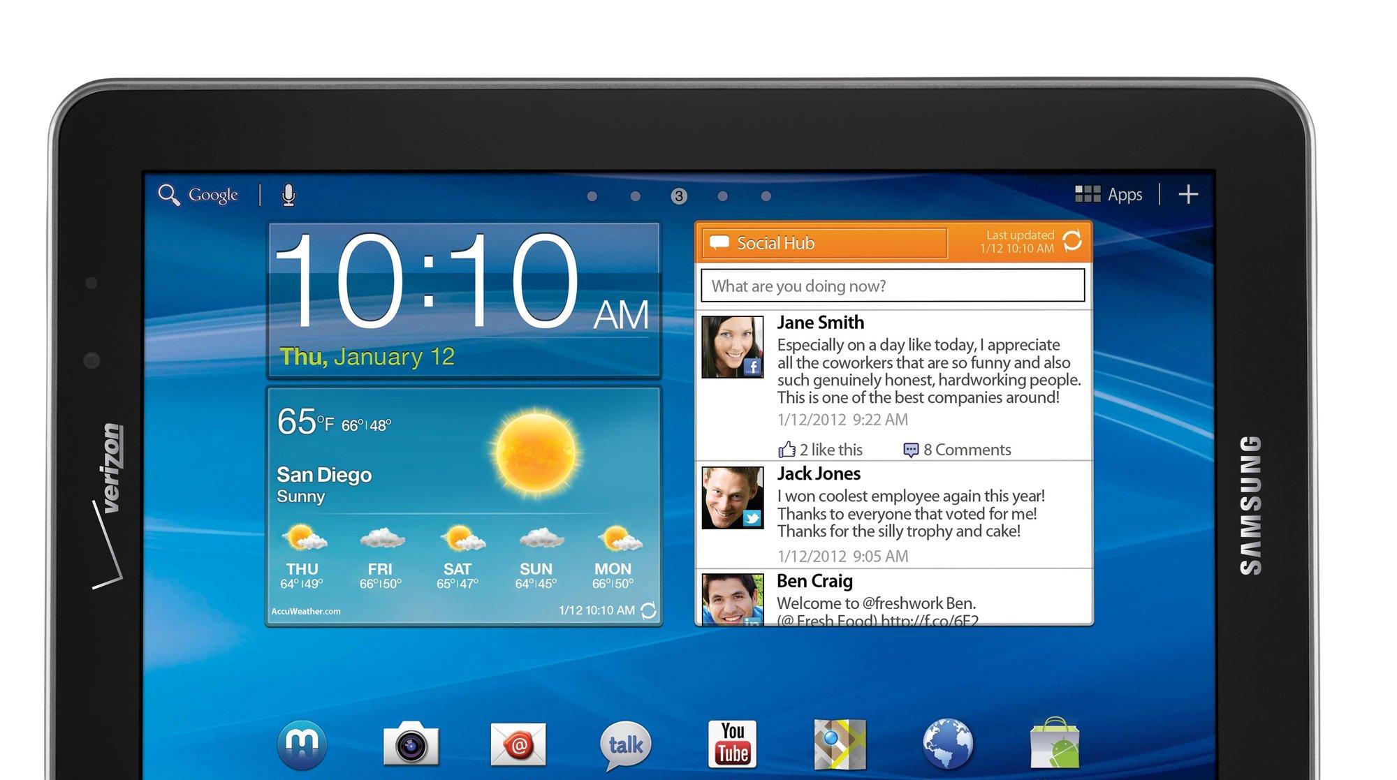 Spesialversjonen av Galaxy Tab 10.1 kan selges i Tyskland, mens lillebroren 7.7 blir forbudt i hele EU.