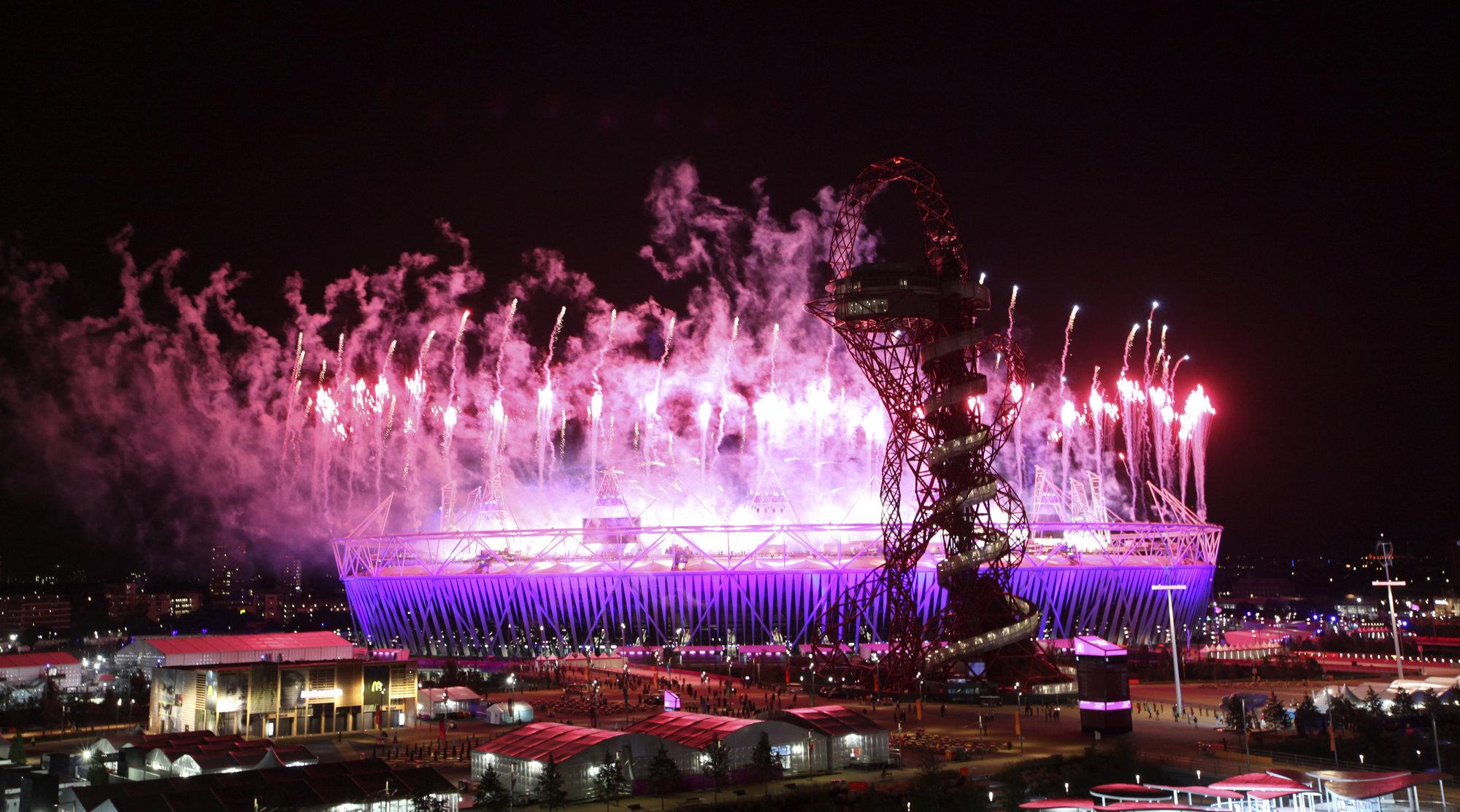 OL har tydeligvis ikke tatt høyde for at folk selv oppdaterer. Her fra åpningsseremonien.