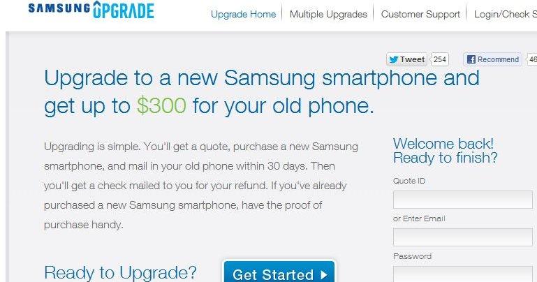 Du får 300 dollar for den gamle om du oppgraderer til ny Samsung-telefon.