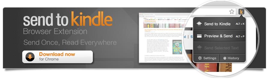 Mye enklere å overføre tekst fra nettsider til Kindle.