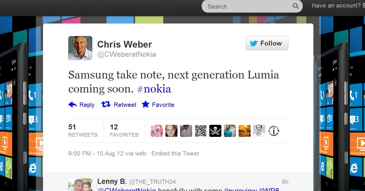 5. september skal Nokia og Microsoft trolig vise frem neste generajons Lumia-mobiler med Windows Phone 8. Windows 8 lanseres i oktober.