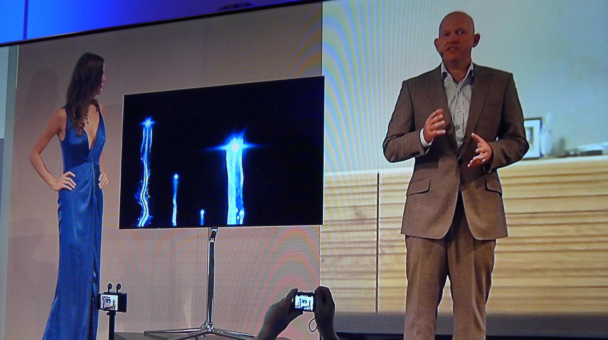 En TV til begjær: Samsung viste 55 tommers OLED i Berlin.