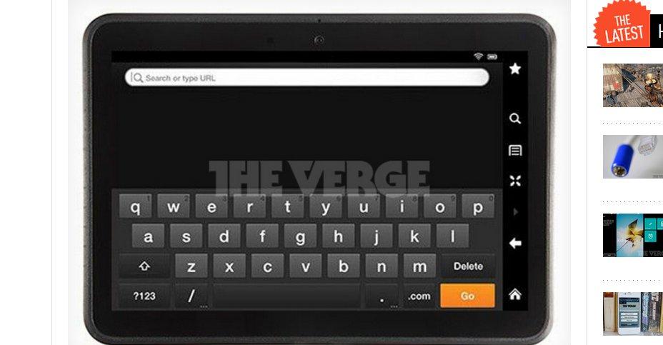The Verge har skaffet til veie ett eneste bildet av det som ganske så sikkert er andre-generasjons Kindle Fire, et rimelig Android-nettbrett fra Amazon.