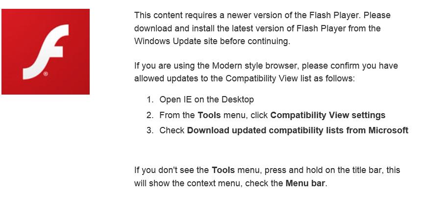 I Windows 8 må vi vente på Microsoft, i tillegg til Adobe - Windows 8-nettleseren Internet Explorer 10 kjører nemlig sin egen versjon av programtillegget Adobe Flash.