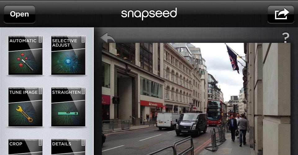 Snapseed på iOS gjør det veldig enkelt å fikse på bilder.