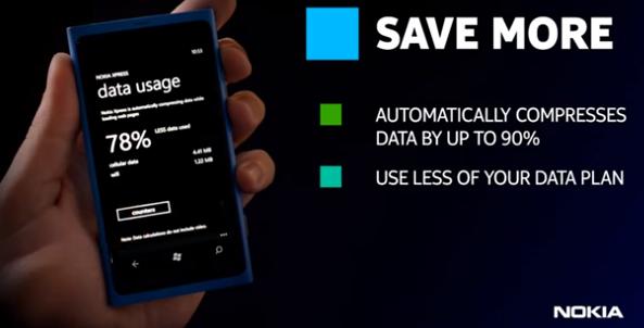 Nokias Xpress-app kompimerer nett-dataene i skyen før det sendes til deg. Det betyr bedre batterilevetid, kjappere innlasting og lavere mobilregning.
