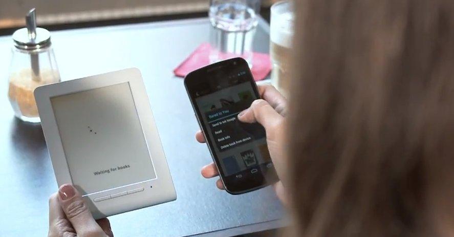 Du overfører bøker via Bluetooth fra en Android eller iPhone.