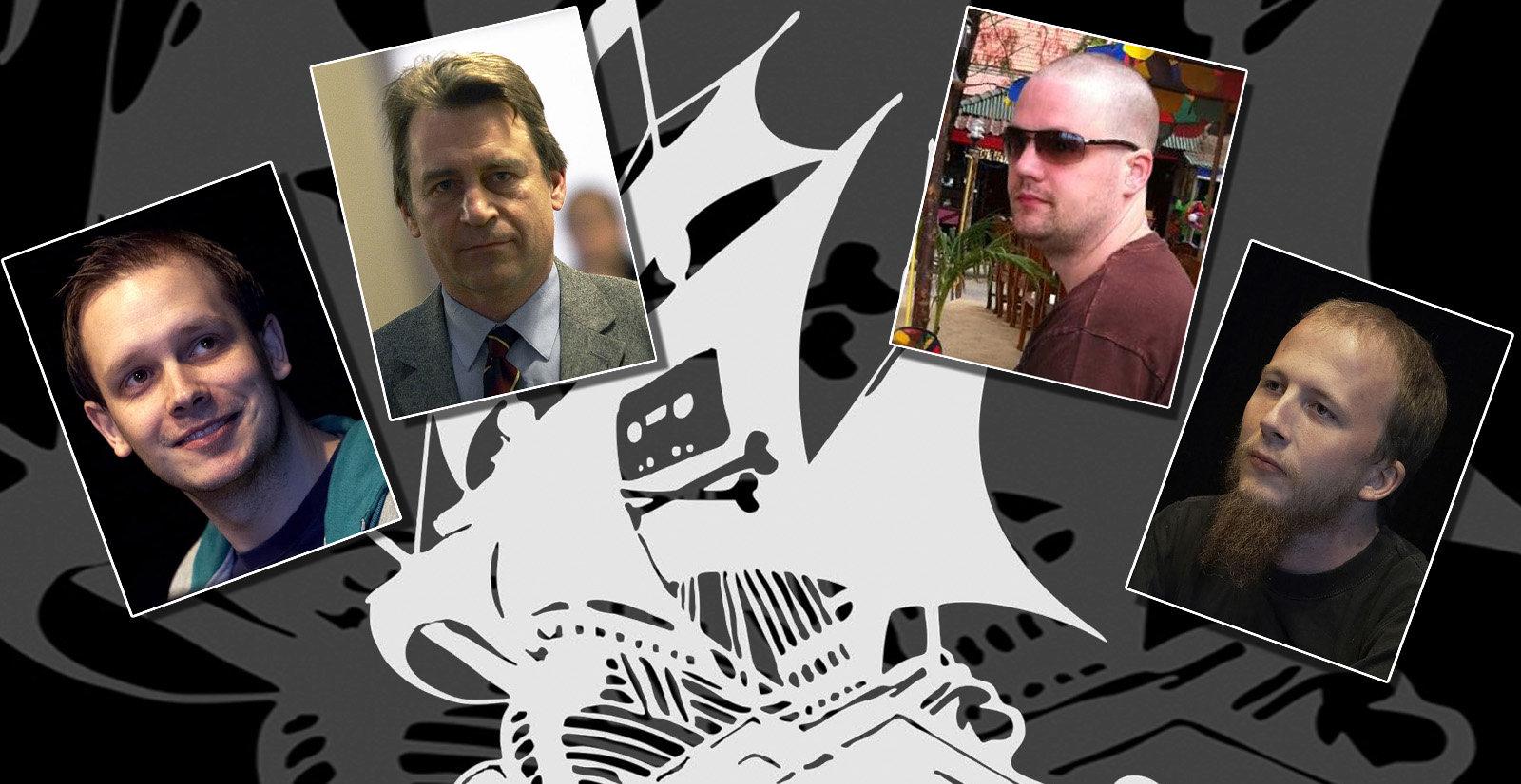 De fire Pirate Bay-gründerne har levd høyst forskjellige liv etter at dommen mot dem falt i 2009. Fra venstre Peter Sunde, Carl Lundström, Fredrik Neij og Gottfrid Svartholm Warg.