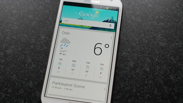 Google Nå har potensiale - men er også tilgjengelig på andre Jelly Bean-enheter.
