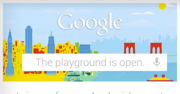 «Lekeplassen er åpen» står det i invitasjonen som Google har sendt ut til Android 4.2-presentasjonen neste mandag.