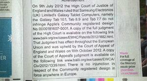 Slik ser den nye unnskyldningen ut som i dag er trykket i britiske aviser.