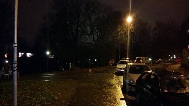Nattfotografering med blits.