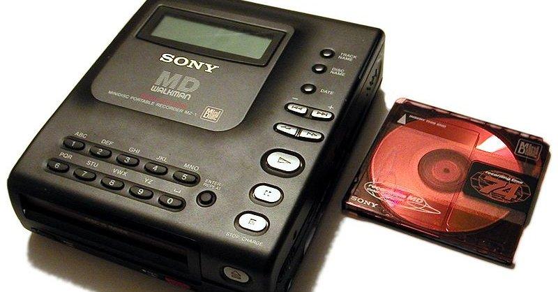 Sony MZ1 kom i 1992 og var den første MiniDisc-spilleren på markedet.