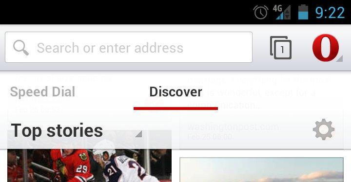 Dette er Opera for Android beta.