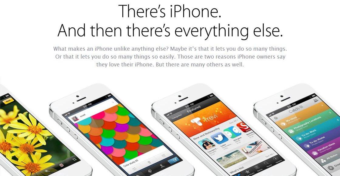 Det finnes iPhone, og så finnes det alle de andre, hevder Apple i sin svar-annonse til Samsungs S4-lansering.