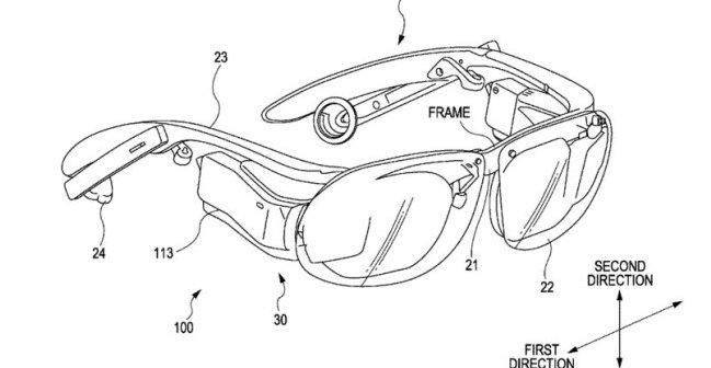 Slik beskriver Sony sin nye høyteknologiske brille i en patentsøknad.