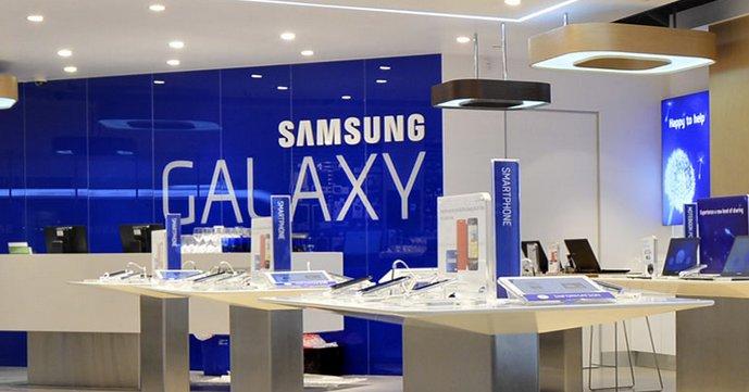 Omtrent slik vil en Samsung Experience Shop se ut. Mandag åpner de første 500 av dem i USA, og 900 til er planlagt. (Bildet viser Experience Store i Sydney, Australia)