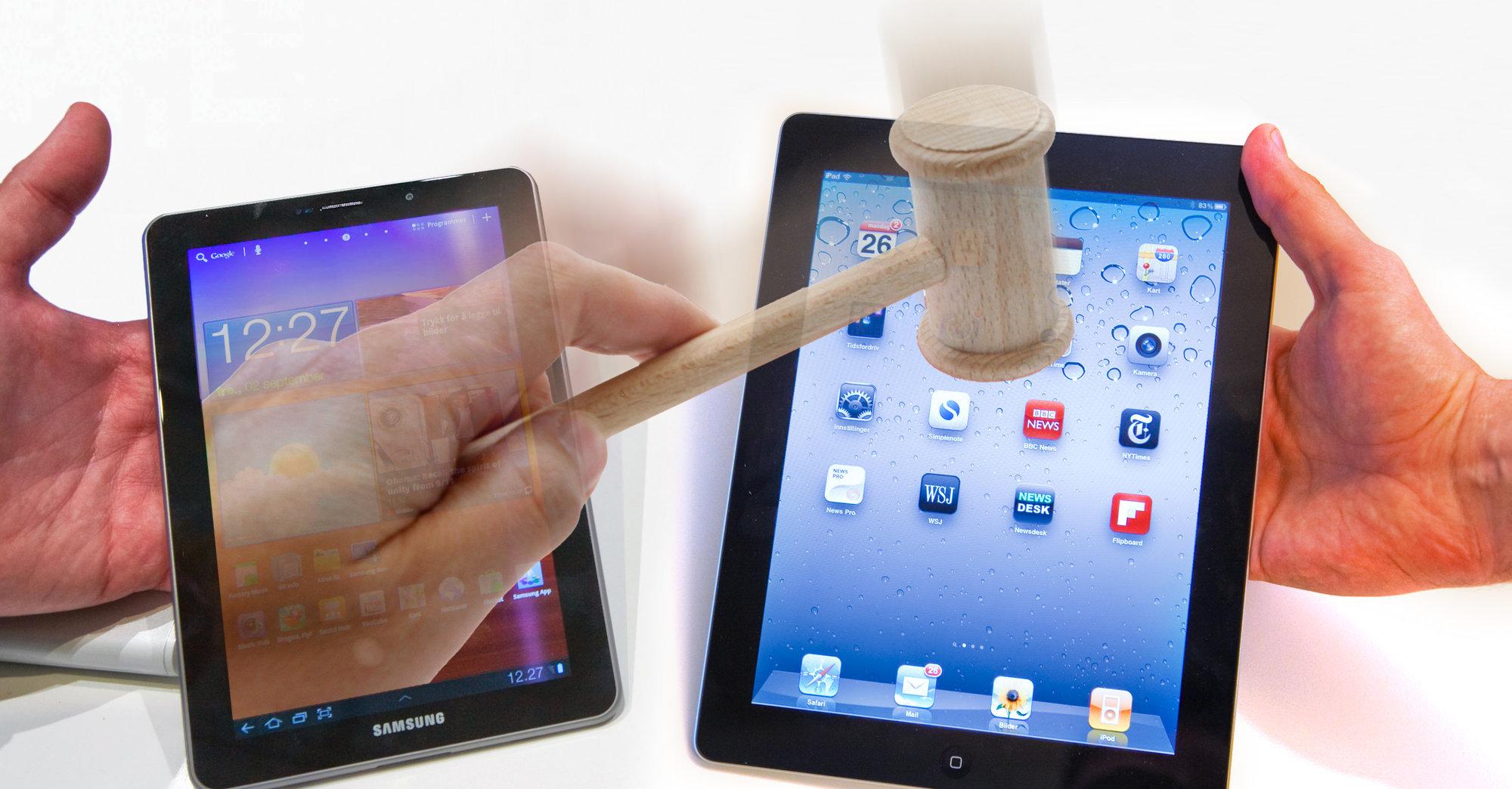 Samsung har fått inn nok et stikk etter at to av de vesentligste patentene til Apple har blitt kjent ugyldige.