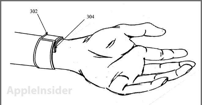 Dette er et patent på Apple-klokka fra august 2011. I patentet er det ikke spikret hvilket materiale den skal lages fra eller detaljerte tekniske spesifikasjoner.
